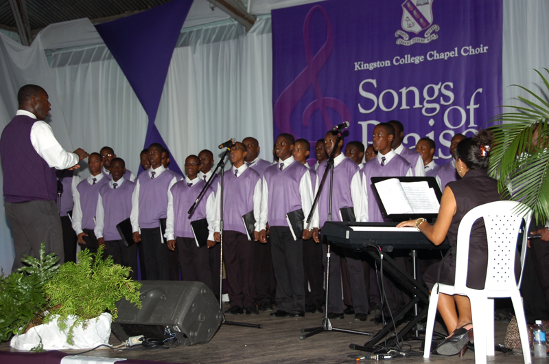 KC chapel choir at Songs of Praise CD launch
